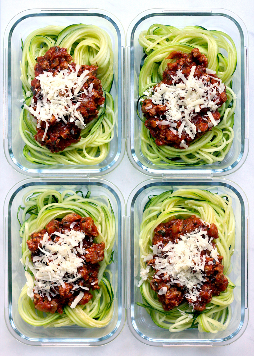 Zoodles & Meat Sauce