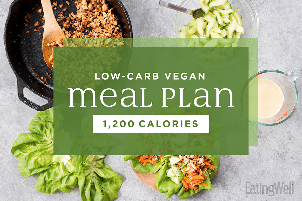 low carb vegan meal plan green vegetables pan cooking