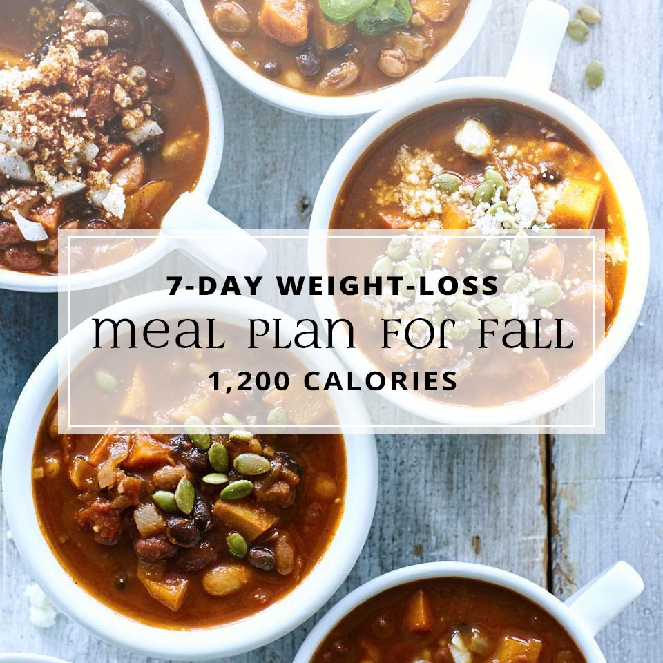 7-Day Weight-Loss Meal Plan for Fall: 1,200 Calories