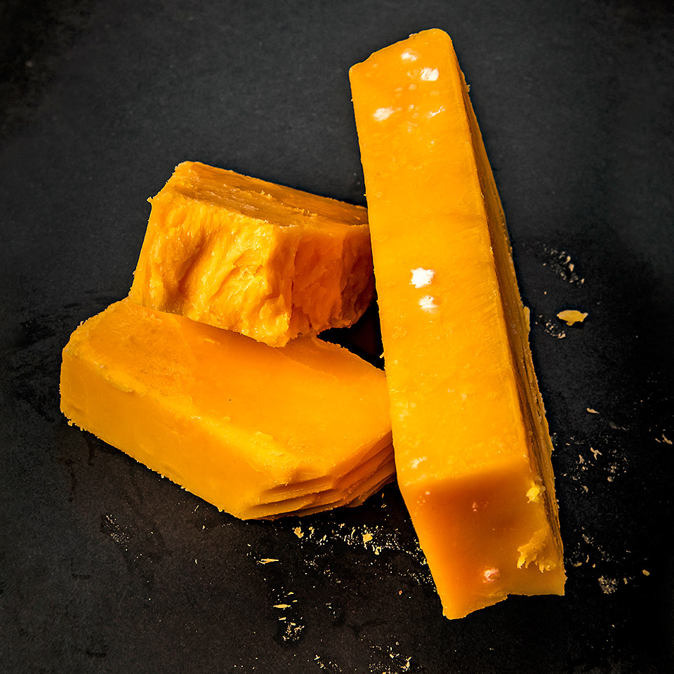 blocks of moldy cheese