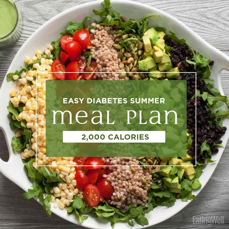 Easy Diabetes Meal Plan for Summer: 2,000 Calories - EatingWell