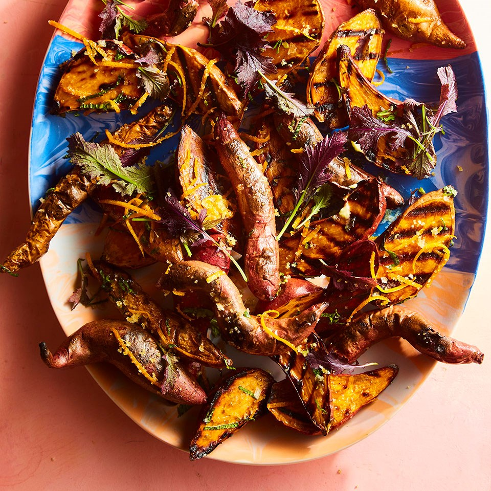 Grilled Sweet Potatoes with Gremolato