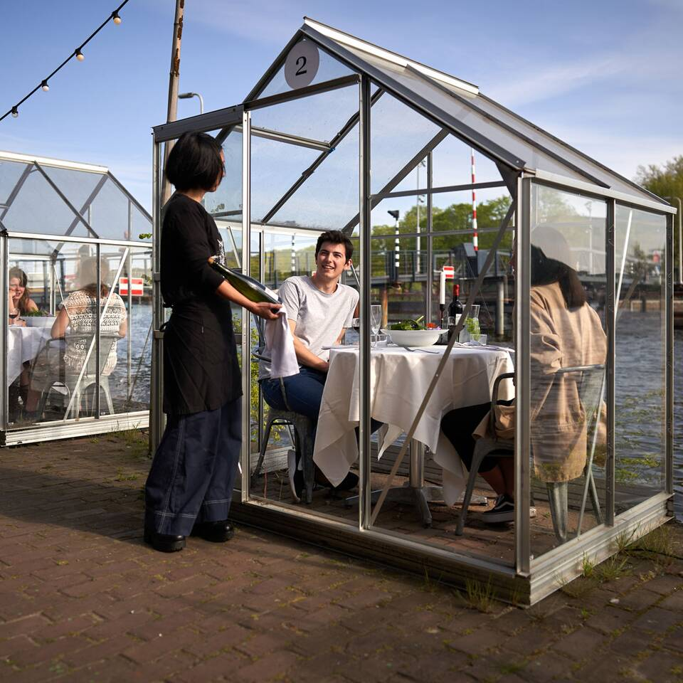 This Amsterdam Restaurant Is Putting Tables in Individual Greenhouses for an Adorable and Safe Dining Experience