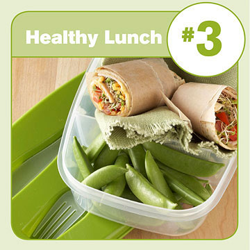 Healthy Lunch #3: Ham & Cheese Sandwich Wrap