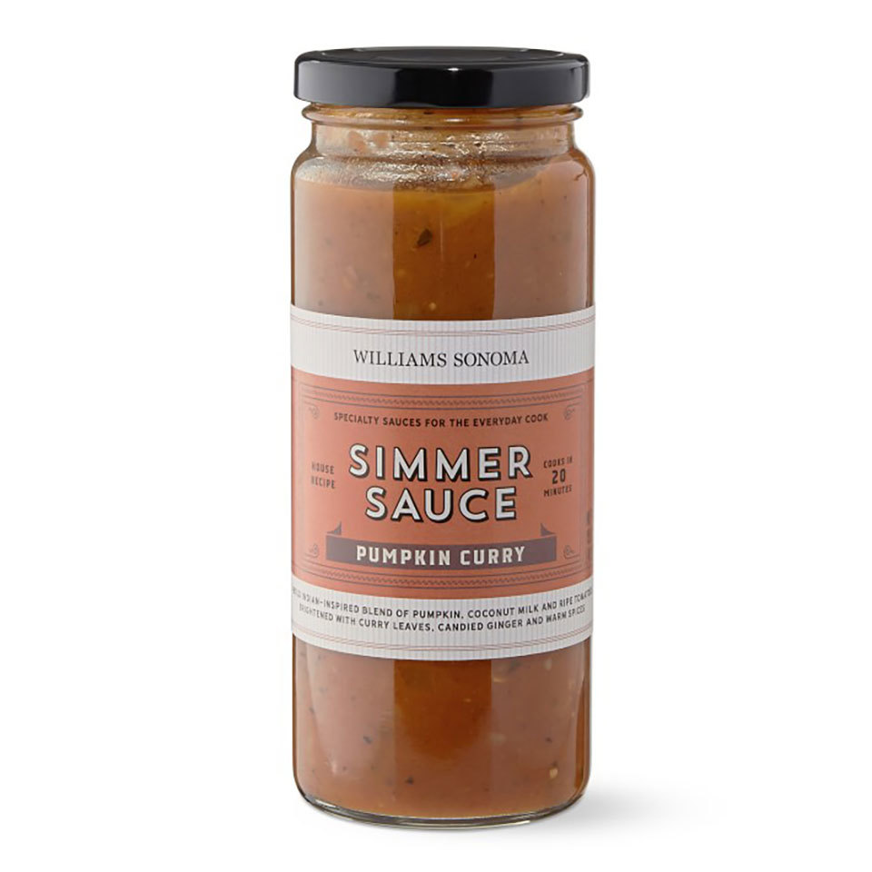 jar of Pumpkin Curry Simmering Sauce, Williams Sonoma